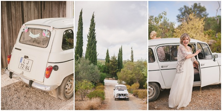 Homespun Algarve brides arrival at Wedding By Piteira Photography