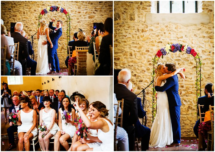 Somerset Wedding just married at Widcombe Grange By Raw Silk Photography
