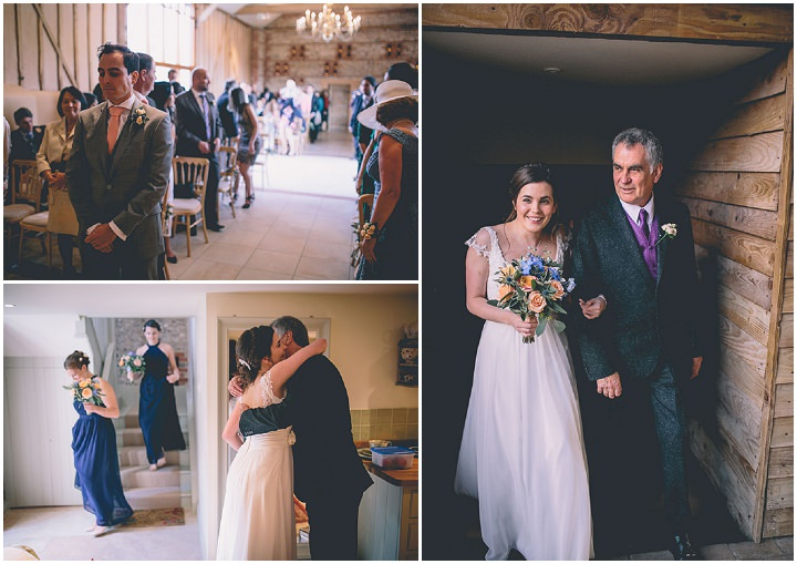 Upwaltham Barns brides arrival Wedding in West Sussex By Story and Colour
