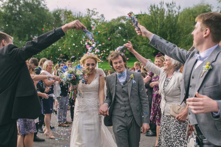 Homespun Ashes Barns confetti Wedding By YU Photography