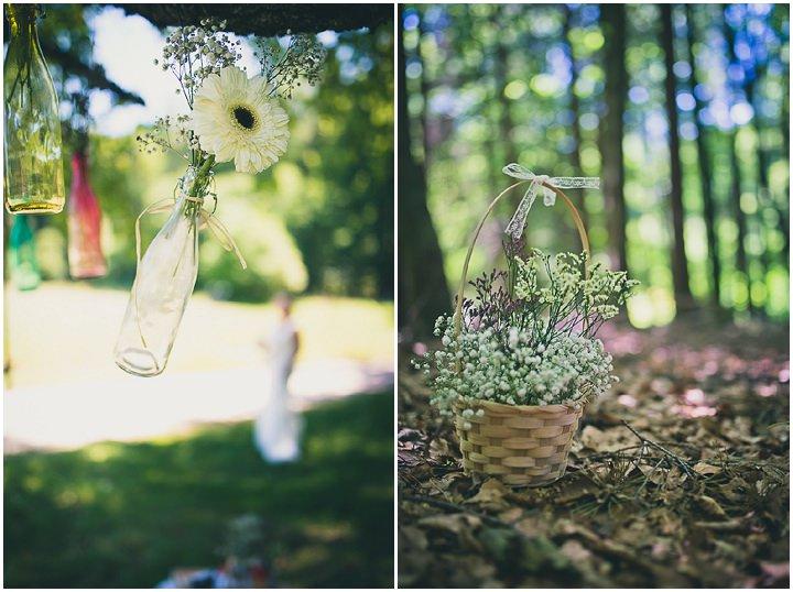 Intimate Woodland decorations Wedding by Tony Romero Photography