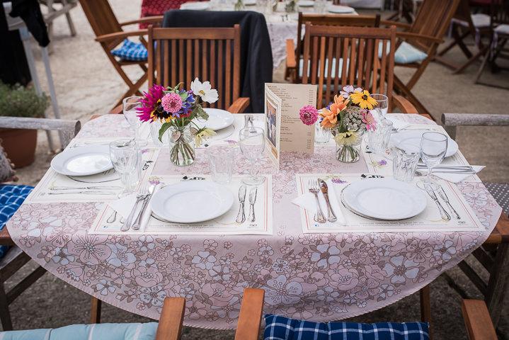 Homespun Wedding table plan at Frithsden Vineyard
