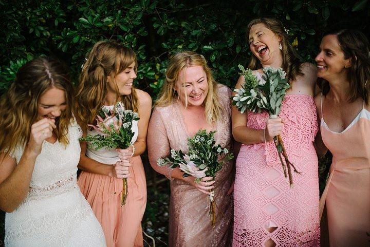 Bohemain New Zealand Beach bridesmaids Wedding By Vignoto Photo
