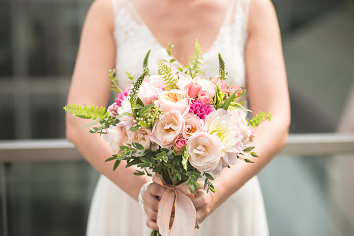Sarah and Ben's Coral and Peach Modern London Wedding By Chris Blackledge Photography