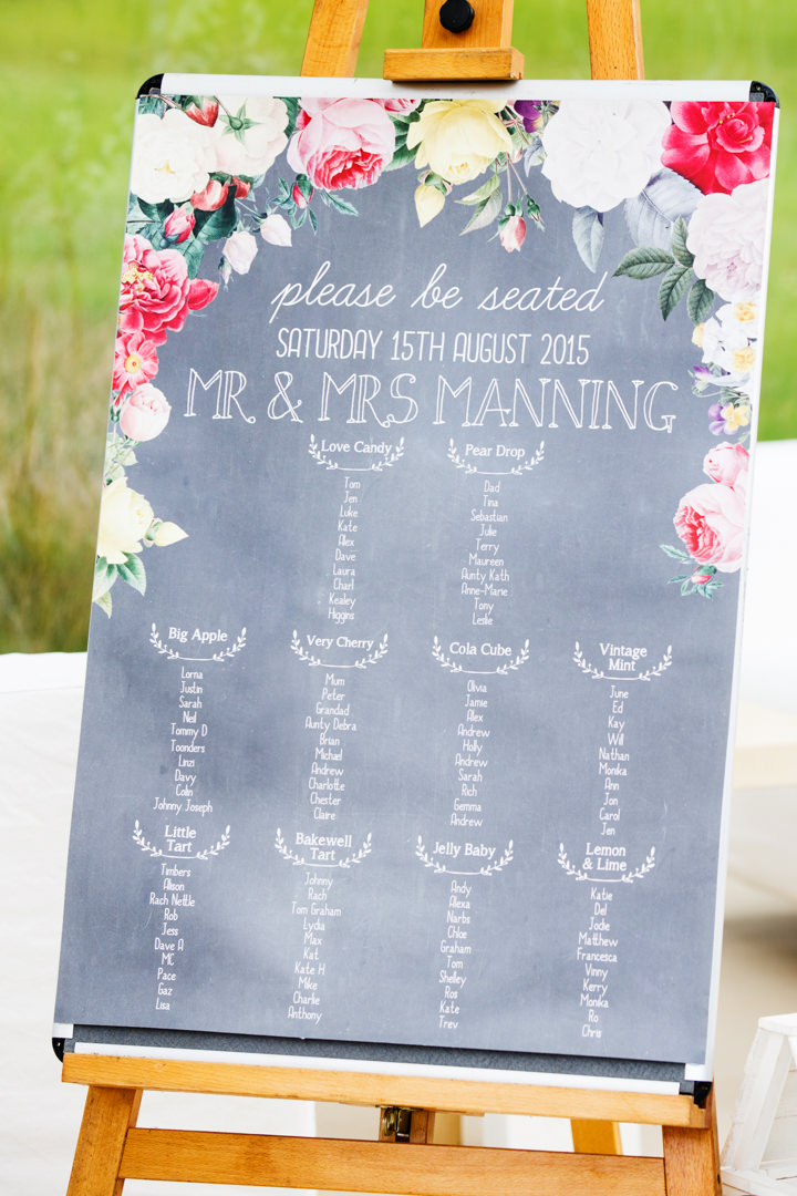 Somerset Wedding table plan at Widcombe Grange By Raw Silk Photography