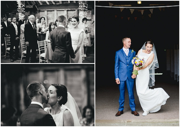 Blackthorpe Barn Wedding just married By Benjamin Mathers Photography