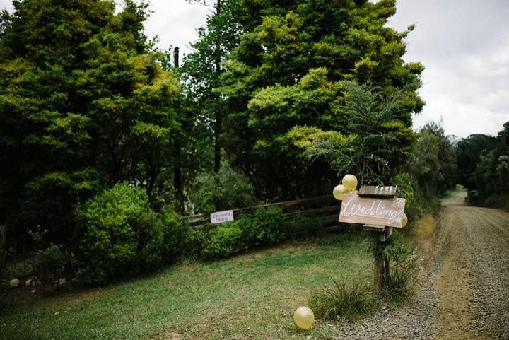 Bohemain New Zealand wedding sign Beach Wedding By Vignoto Photo