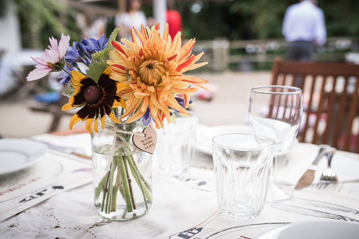 Homespun Wedding flowers at Frithsden Vineyard
