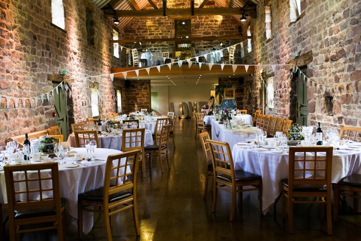 Homespun Ashes Barns reception setting Wedding By YU Photography