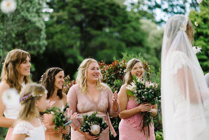 Bohemain New Zealand bridesmaid Beach Wedding By Vignoto Photo