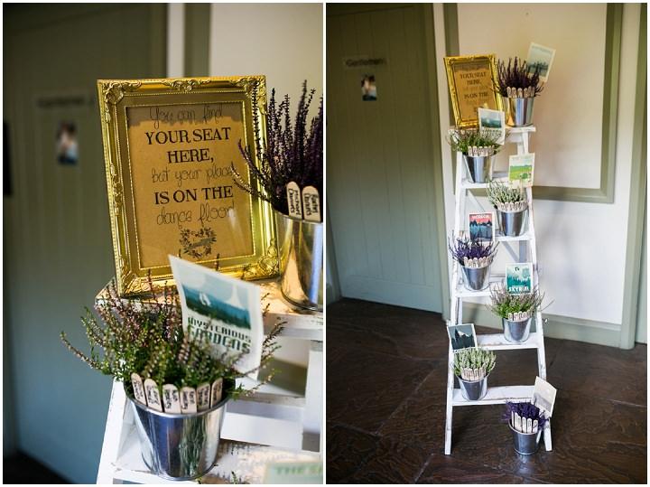 Homespun Ashes table plan Barns Wedding By YU Photography