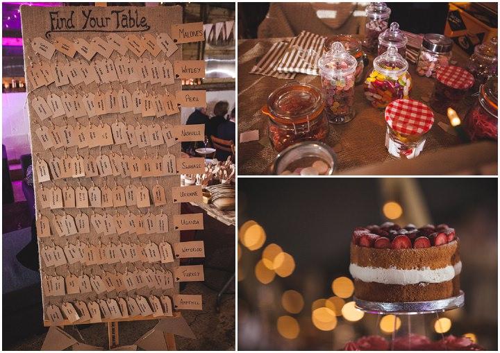 Liz and Nick's Rustic New Years Eve Farm Wedding table plan