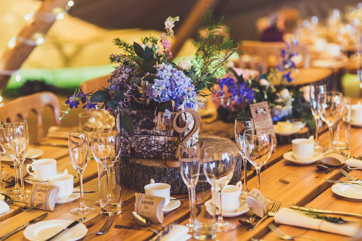 Hill Top Farm table details By Claire Penn Photography