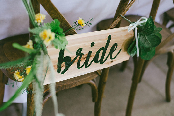 Music Filled Canadian Wedding bride sign By Megan Ewing Creative