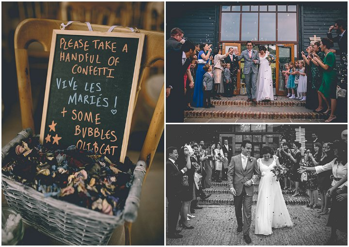 Upwaltham Barns just married Wedding in West Sussex By Story and Colour
