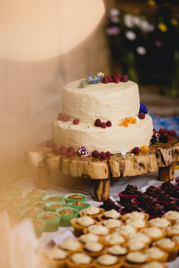 Blackthorpe Barn Wedding cake By Benjamin Mathers Photography