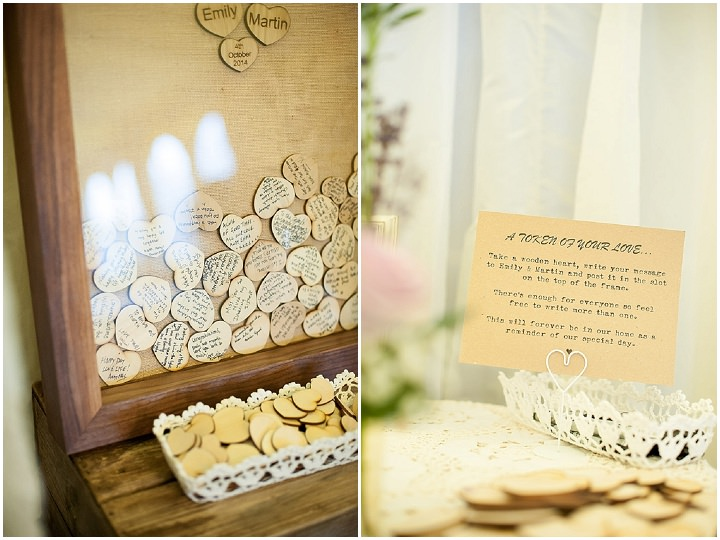 Hertfordshire Wedding guest book at Brocket Hall By Fiona Kelly