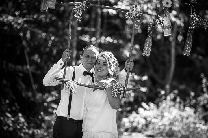 Intimate Woodland Wedding just married by Tony Romero Photography