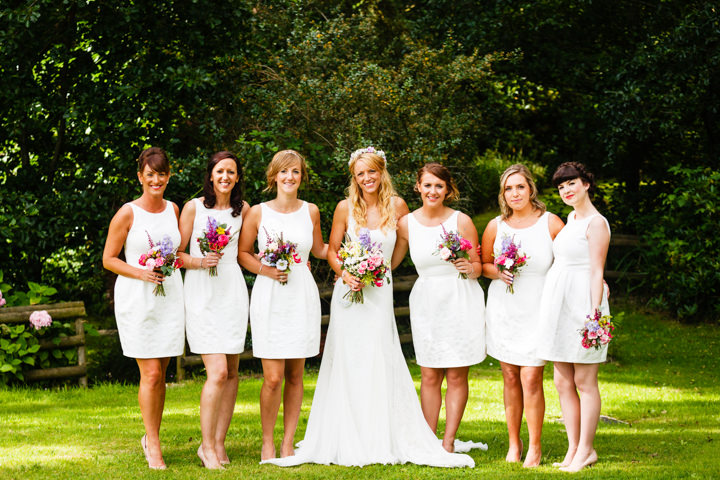 Somerset Wedding bridal party at Widcombe Grange By Raw Silk Photography