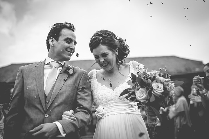 Upwaltham Barns Wedding bride and groom in West Sussex By Story and Colour