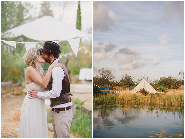 Homespun Algarve first kiss Wedding By Piteira Photography