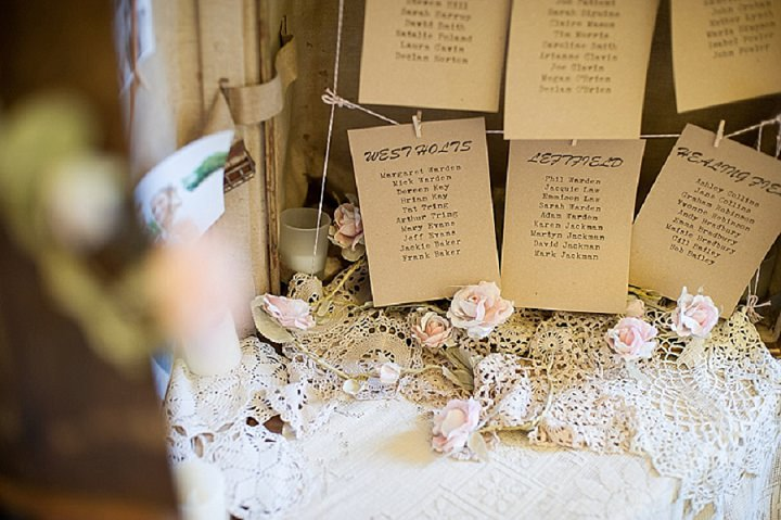 Hertfordshire Wedding Glastonbury Table Plan at Brocket Hall By Fiona Kelly