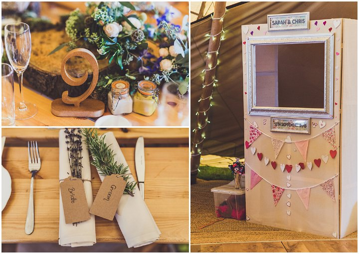 Hill Top Farm details and photobooth By Claire Penn Photography