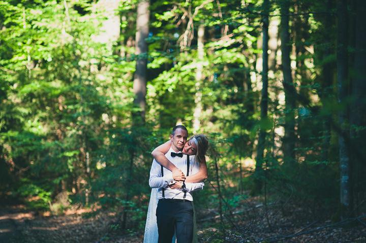 Intimate Woodland Wedding couple by Tony Romero Photography