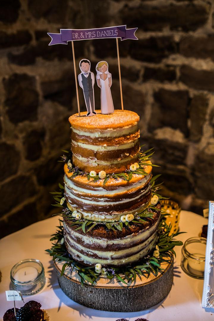 Homespun Ashes Barns naked cake Wedding By YU Photography
