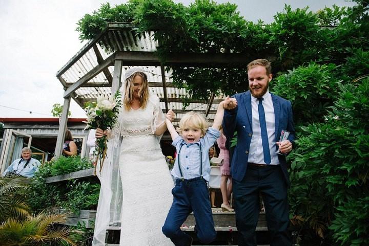 Bohemain New Zealand Beach Wedding By Vignoto Photobride and groom