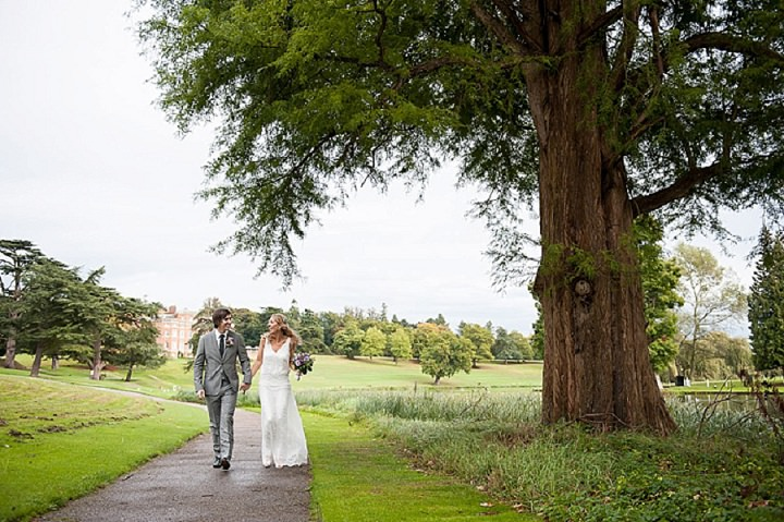 Hertfordshire Wedding portraits at Brocket Hall By Fiona Kelly