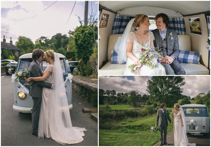 Homespun Ashes Barn vw campervan Wedding By YU Photography