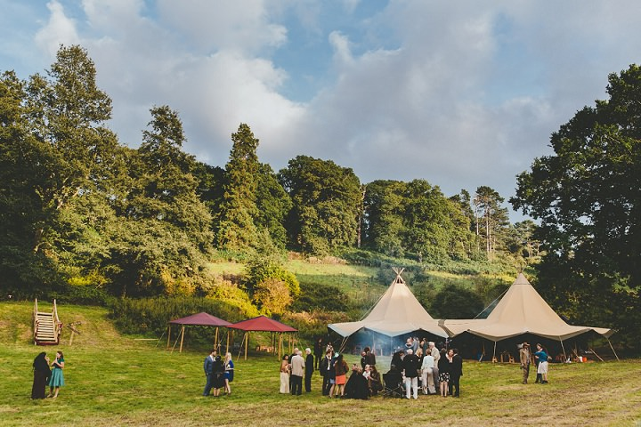 Bohemain Dorset Festival tipi Wedding By Paul Underhill Photography