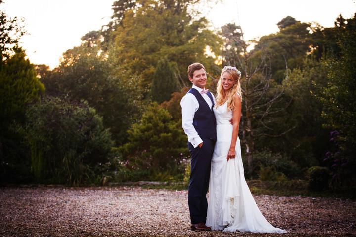 Somerset Wedding couple at Widcombe Grange By Raw Silk Photography