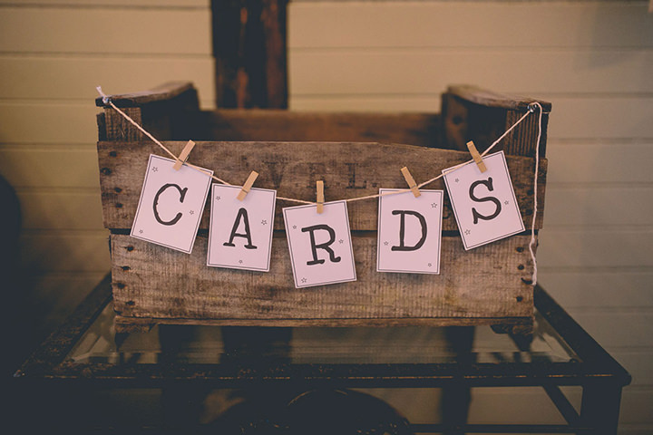 Upwaltham Barns card box Wedding in West Sussex By Story and Colour