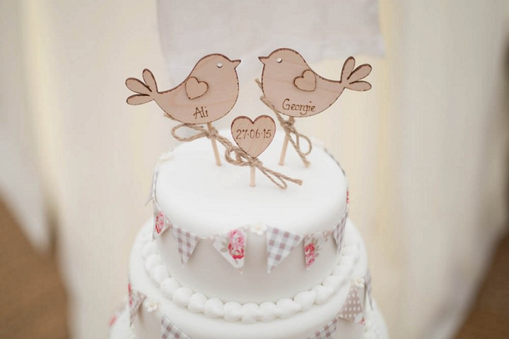 Laid Back Shropshire Cake Topper Wedding By Nicola Gough Photography