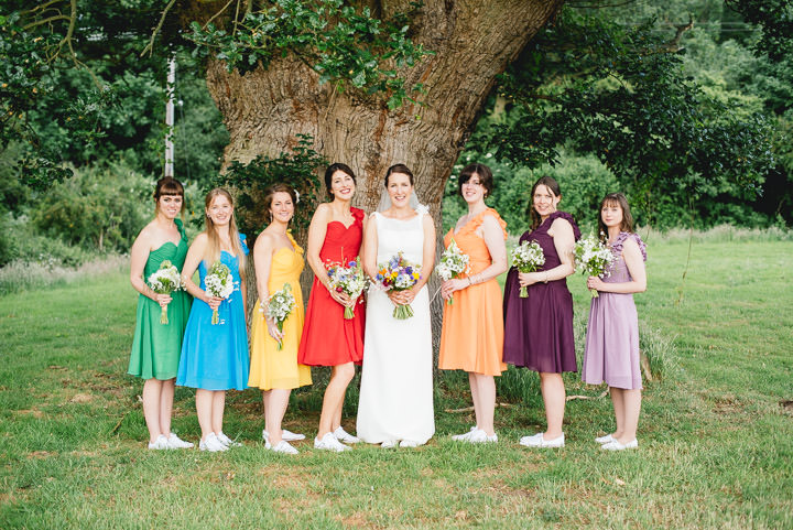 Blackthorpe Barn muticolours bridesmaid dresses Wedding By Benjamin Mathers Photography