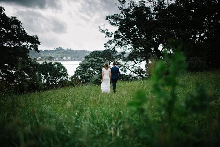 Bohemain New Zealand bride and groom Beach Wedding By Vignoto Photo