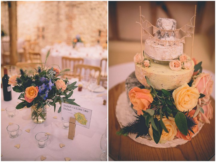 Upwaltham Barns cheese cake Wedding in West Sussex By Story and Colour