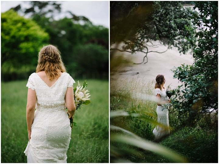 Bohemain New Zealand bride Beach Wedding By Vignoto Photo