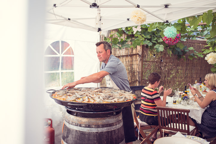 Homespun Wedding food at Frithsden Vineyard