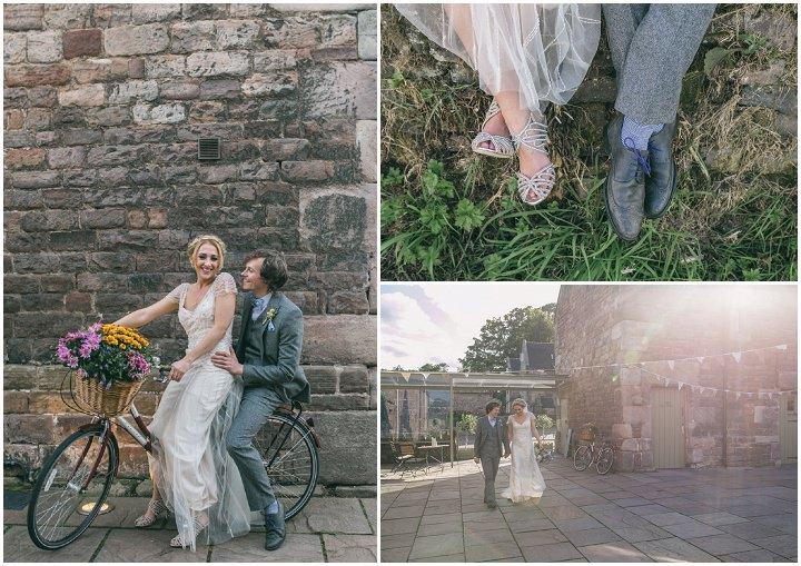 Homespun Ashes Barn bride and groom Wedding By YU Photography