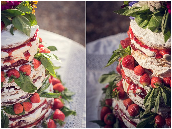 Homespun Wedding cake at Frithsden Vineyard