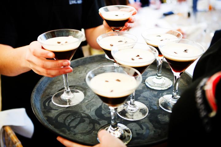 Somerset Wedding espresso martini at Widcombe Grange By Raw Silk Photography