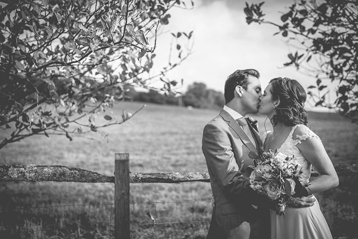 Upwaltham Barns Wedding couple in West Sussex By Story and Colour
