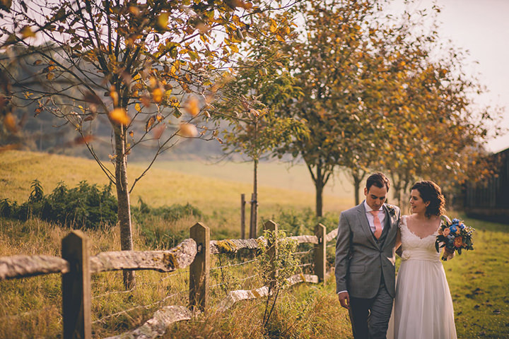 Upwaltham Barns bride and groom Wedding in West Sussex By Story and Colour