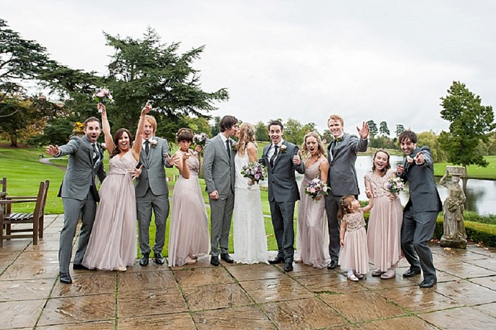 Hertfordshire bridal party at a Wedding at Brocket Hall By Fiona Kelly