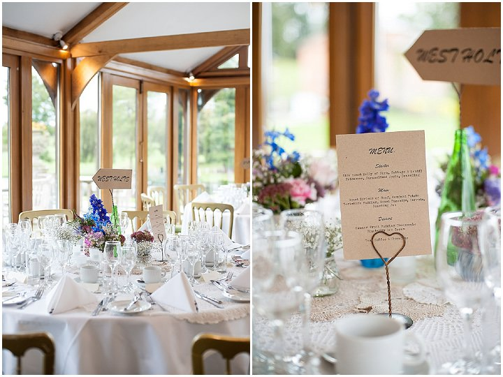 Hertfordshire Wedding table setting at Brocket Hall By Fiona Kelly