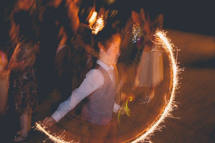 Upwaltham Barns sparklers Wedding in West Sussex By Story and Colour