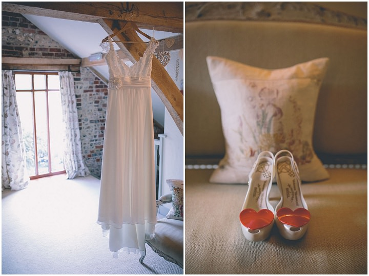 Upwaltham Barns Wedding with Westwood shoes in West Sussex By Story and Colour